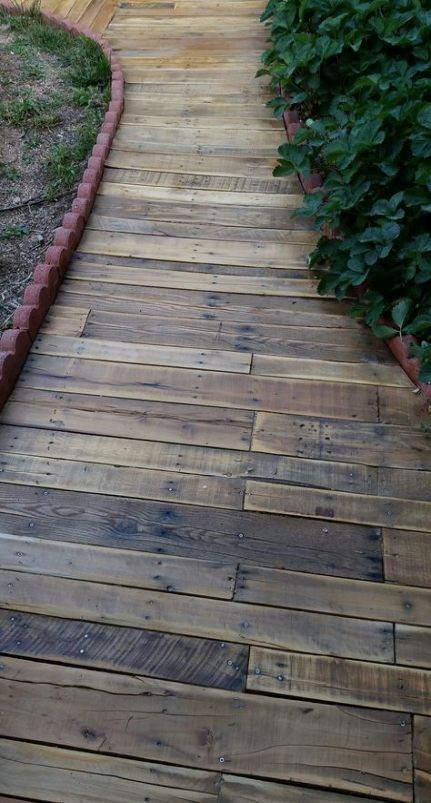 Photo of 59+ ideas for garden path diy pallet walkway