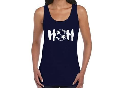 Soccer Mom Sport Womens 100% Cotton Tank Top Summer Workout Shirt Sports Mom Shirt 3