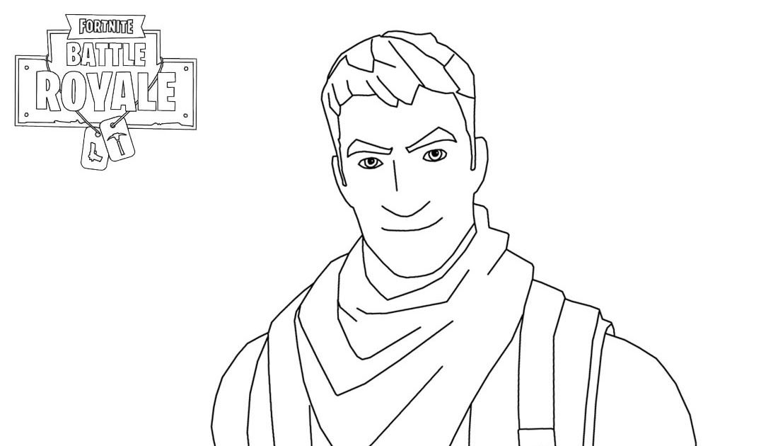 Fortnite Character Man Smiling Coloring Page Free