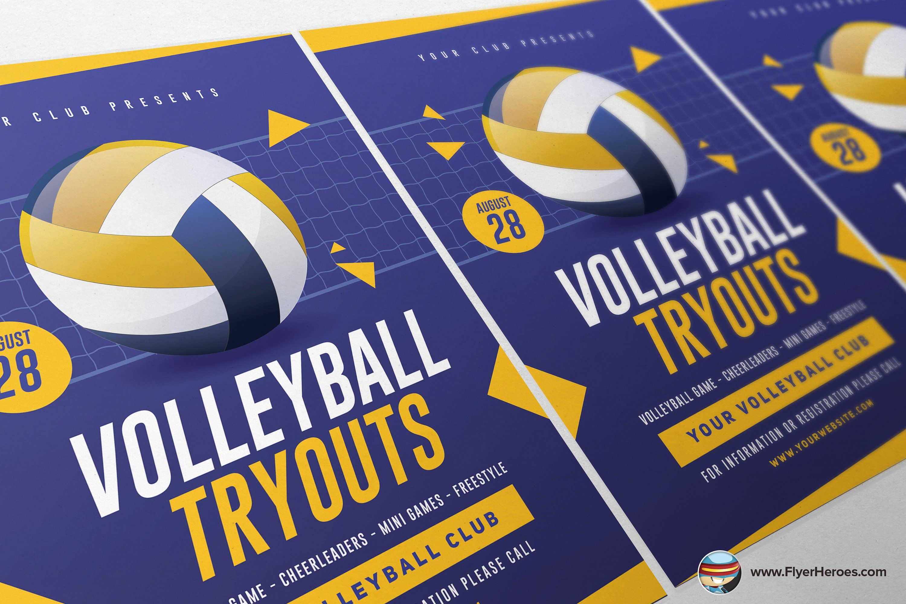 Volleyball Tryouts Flyer Template Information General Tryouts Volleyball Flyer Template Flyer Flyer Design Templates