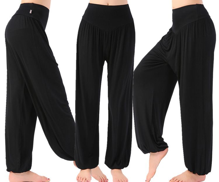 6f13363a209 Online Shop YogaPants Women Plus Size Colorful Bloomers Dance TaiChi Full Length  Pants Smooth No Shrink Antistatic Pants