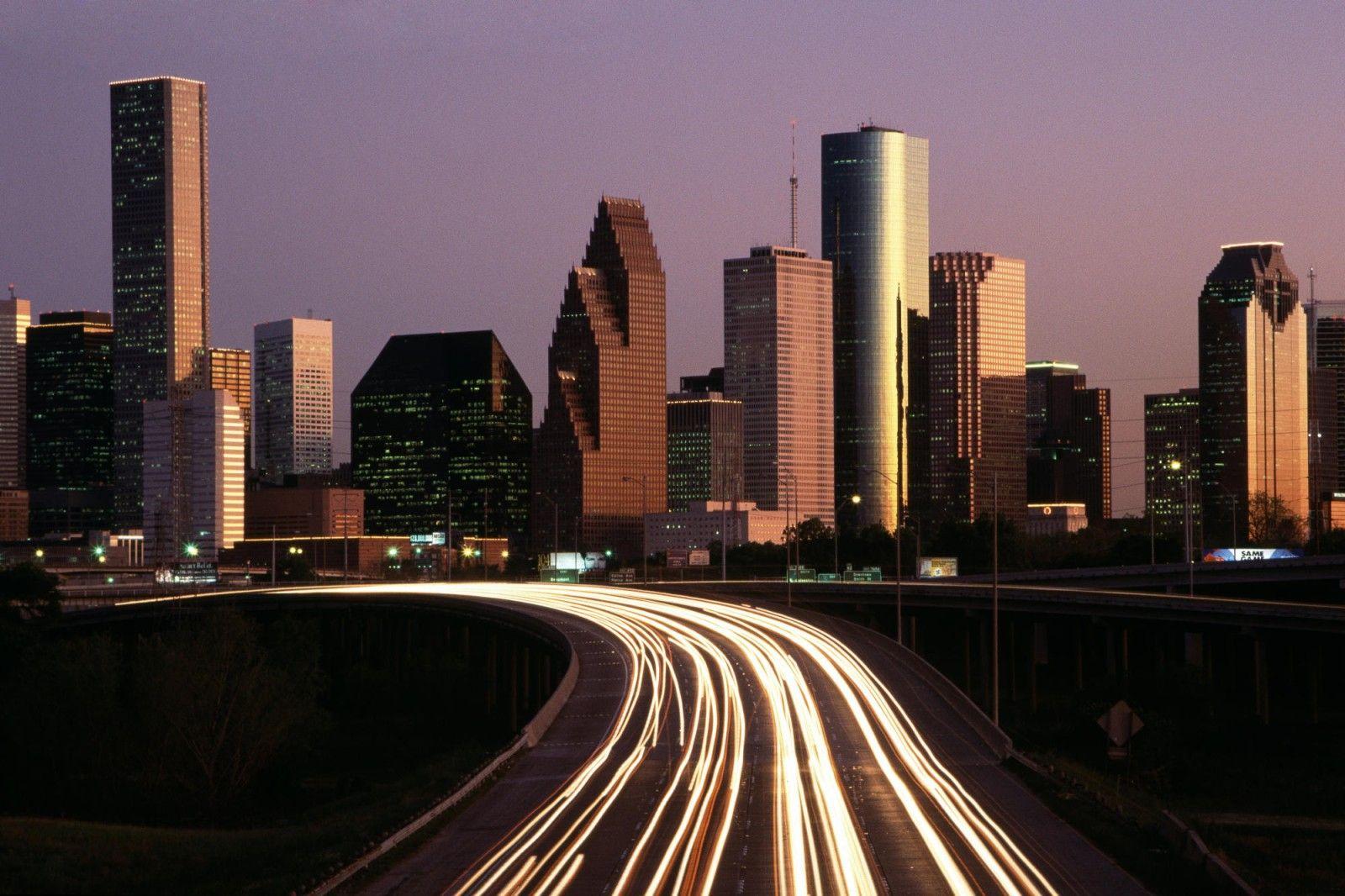 Houston Skyline At Dusk See Ya Soon Houston Skyline Skyline Houston City