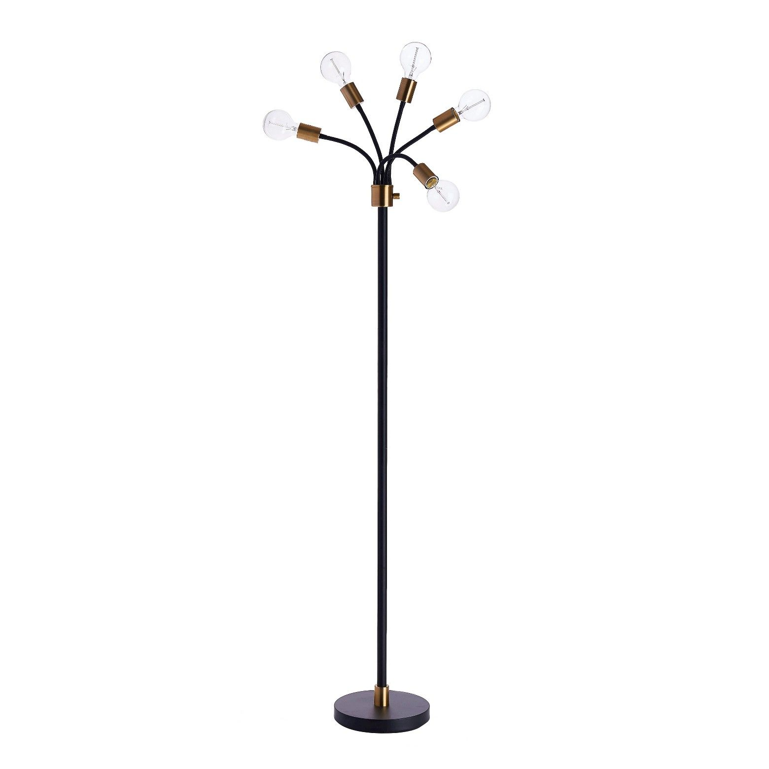 Exposed Bulb Multi Head Floor Lamp Brass Includes Energy Efficient Light Bulb Project 62 Energy Efficient Light Bulbs Flexible Floor Lamp Brass Floor Lamp