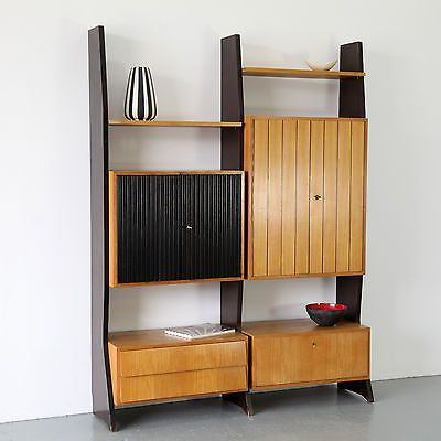 Mid Century Wall Unit Erich Stratmann for Idee Möbel 60s | Regal Standregal 60er