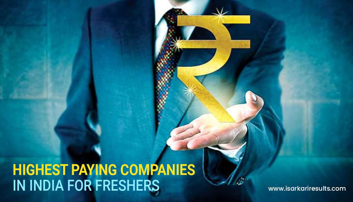 Highest paying companies in india for freshers good