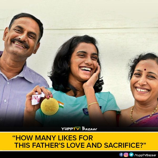 Did you know P V Sindhu's father took an 8-month holiday to help her in training? Really salute to such parents who have held up as an example for all. How many likes for such proud parents? #SindhuinFinals #SindhuStorm #Rio2016
