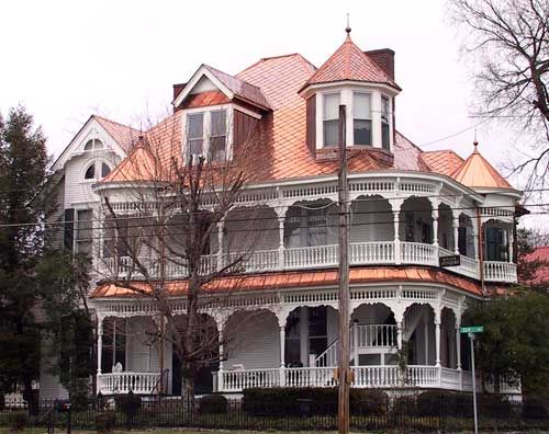 Metal Roofing Is Truly Eco Friendly And Beautiful Copper Roof On Victorian House Copper Roof Victorian Homes Huge Houses