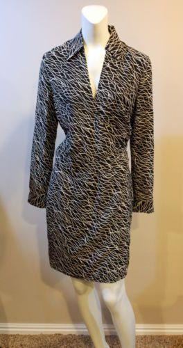 Moda-International-Wrap-Waist-Black-Dress-100-Silk-6-NEW