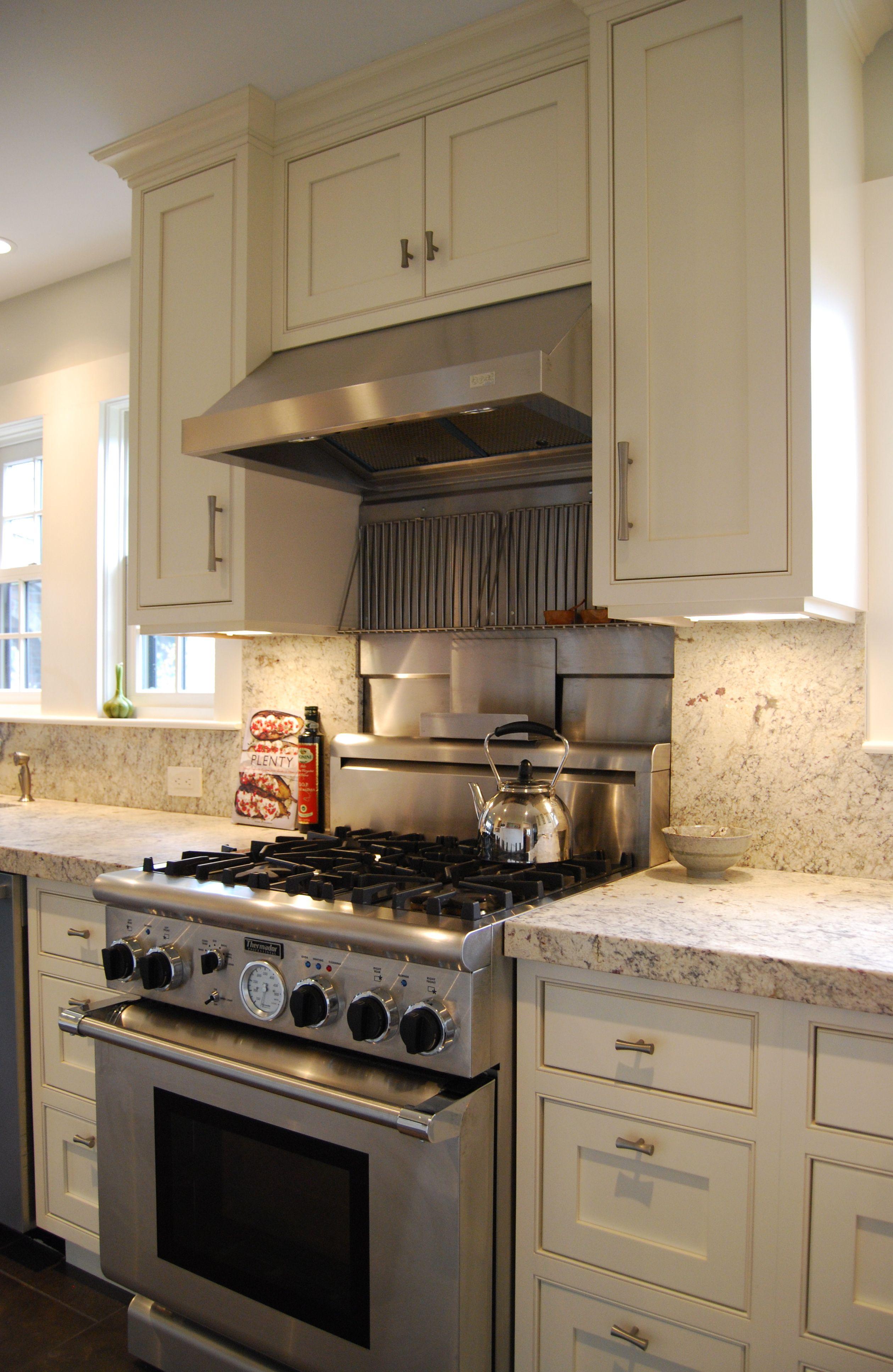 Kitchen Thermador Oven Adelphi Custom Cabinets Honed Bianco Romano Backsplash And Kitchen Countertops Replacing Kitchen Countertops Diy Kitchen Countertops