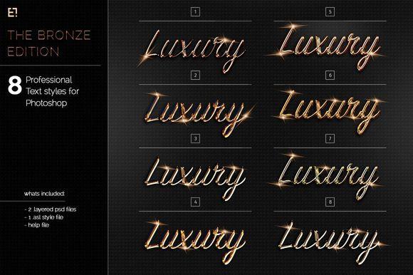Bronze Photoshop Layer Styles by Egotype on @creativemarket