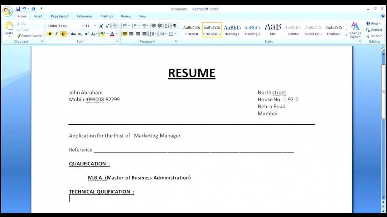 14 How To Resume Format With Phrase in 2020 Cover letter