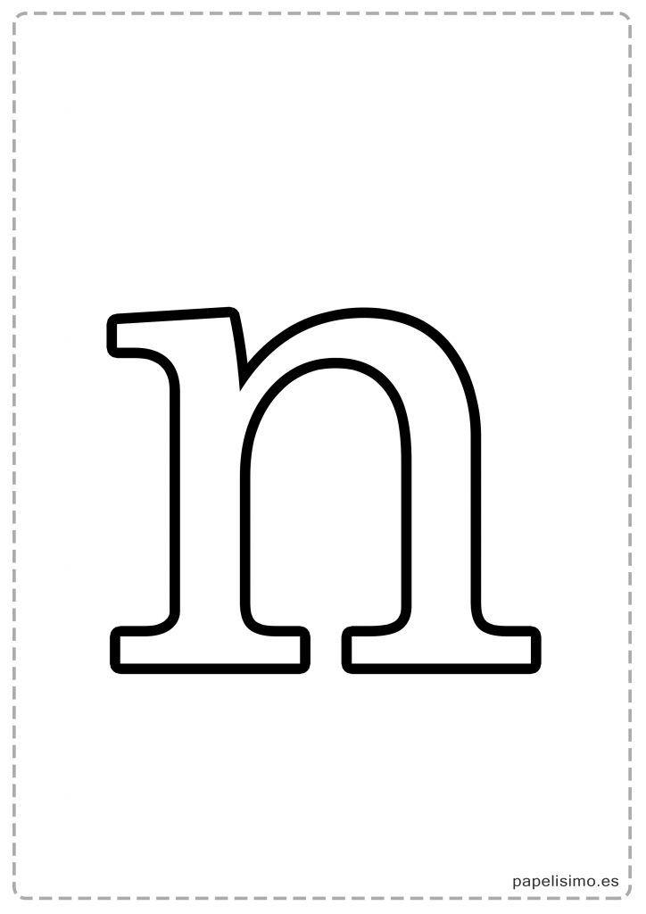 N Abecedario letras grandes imprimir minusculas Letras para imprimir Moldes de letras y