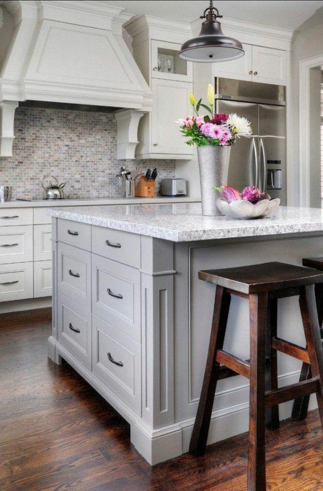Idée relooking cuisine \u2013 idée couleur cuisine, modele de cuisine - meuble de cuisine gris anthracite
