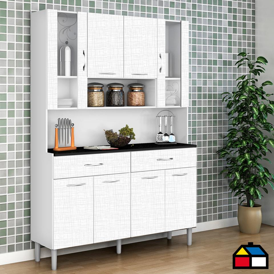 Kit mueble cocina 121x174x36 cm Blanco | Muebles de cocina ...