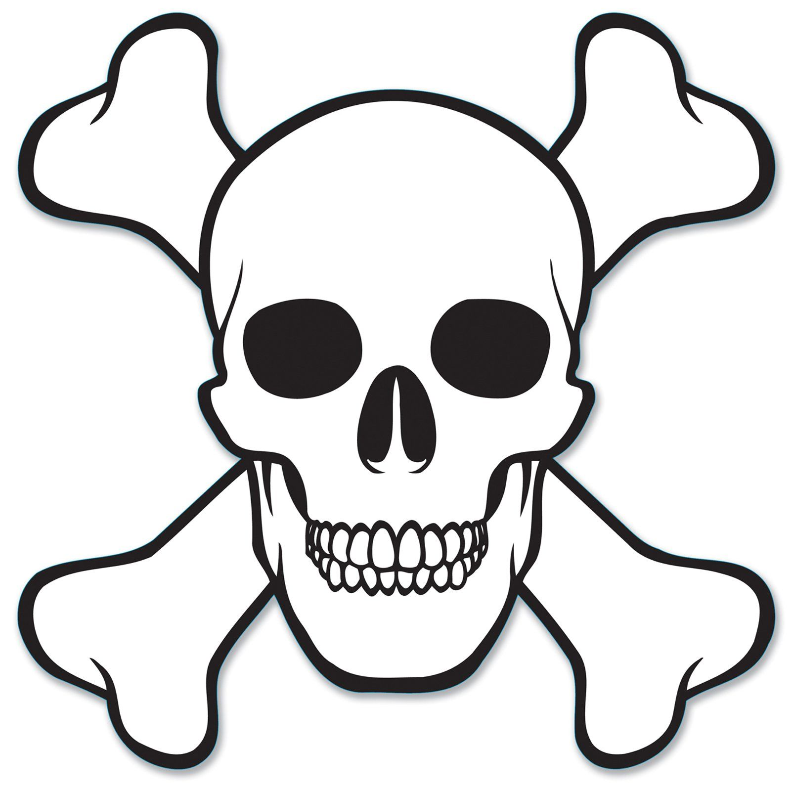 Skull And Crossbones Cutout Skull Coloring Pages Skull Stencil Skull And Crossbones