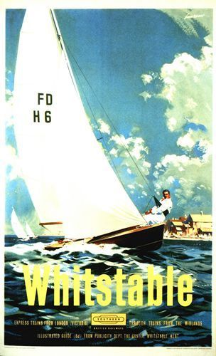 British Railways Whitstable Kent Railway  Poster A3 A2 Reprint