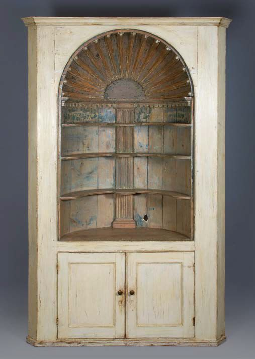 Barrel Back Corner Cupboard Sold Antique Furniture Furniture Colonial Furniture