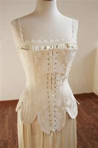 custom historic wedding dress  style corset old school