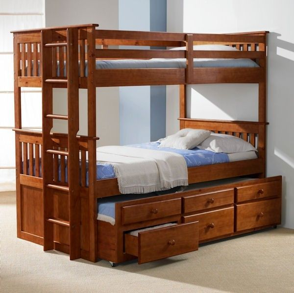 Solid Wood oak Twin Captains Bed with Trundle and Storage sleeps 3 Bunk in Houston - Inspirational solid bunk beds Inspirational