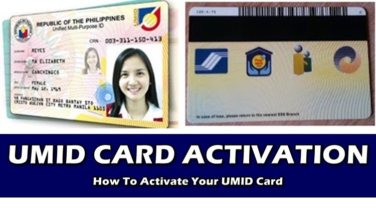 Activate Umid Card How To Activate Your Umid Card Cards Birth