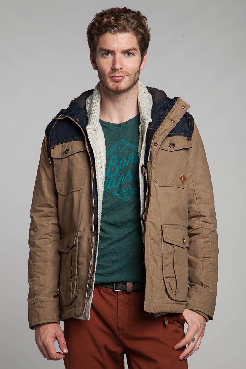 Parka homme empiècement denim Trappeur - Bonobo Jeans   LookBook ... 3f0d475311d