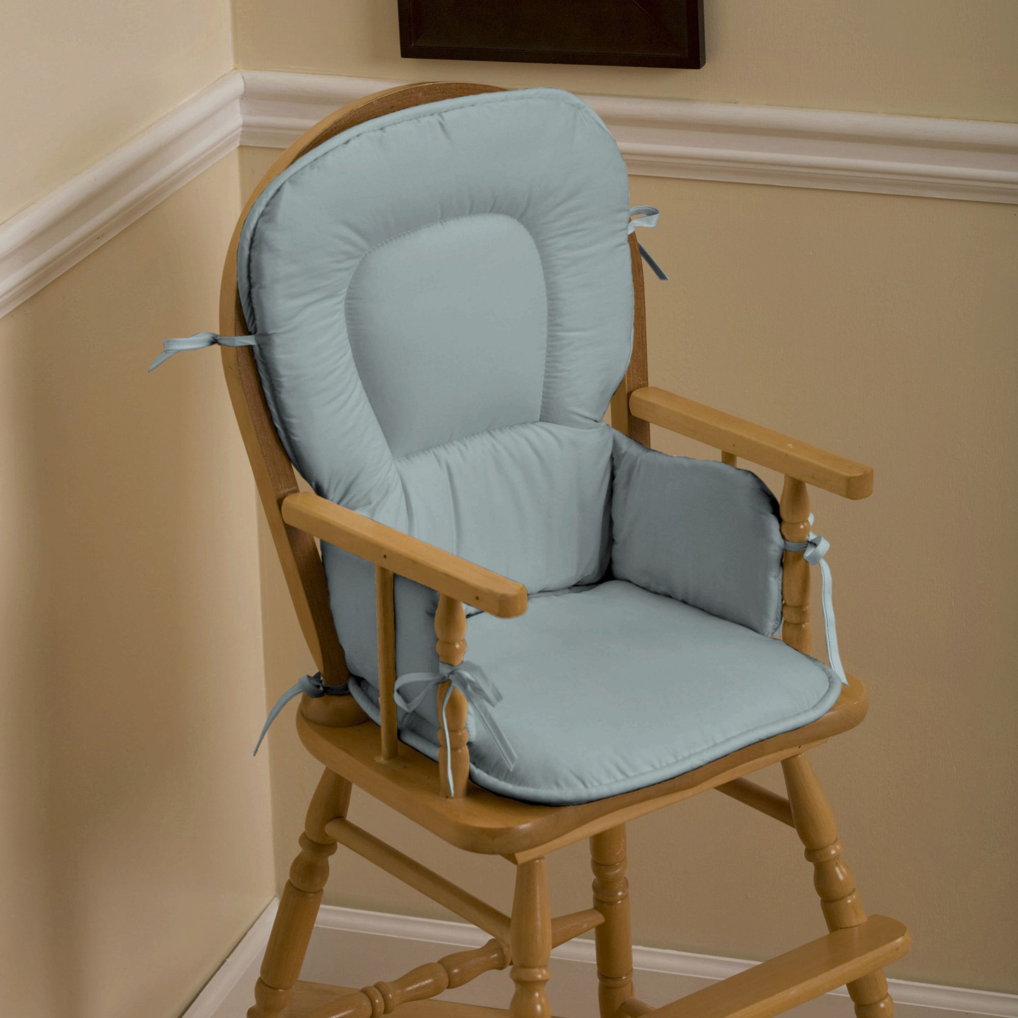 dining room chair pads and cushions high definition pics | Solid Robin's Egg Blue High Chair Pad | Rocking chair pads ...