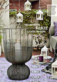 draht windlicht fascari von fink living wurde in der zeitschrift zuhause wohnen ver ffentlicht. Black Bedroom Furniture Sets. Home Design Ideas