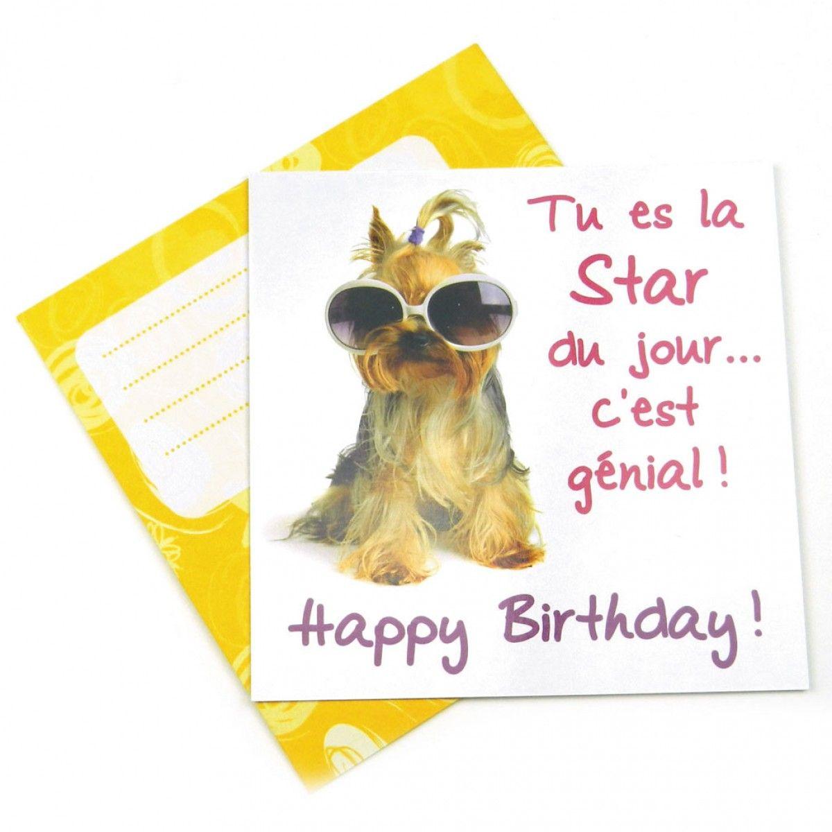 carte anniversaire de chien