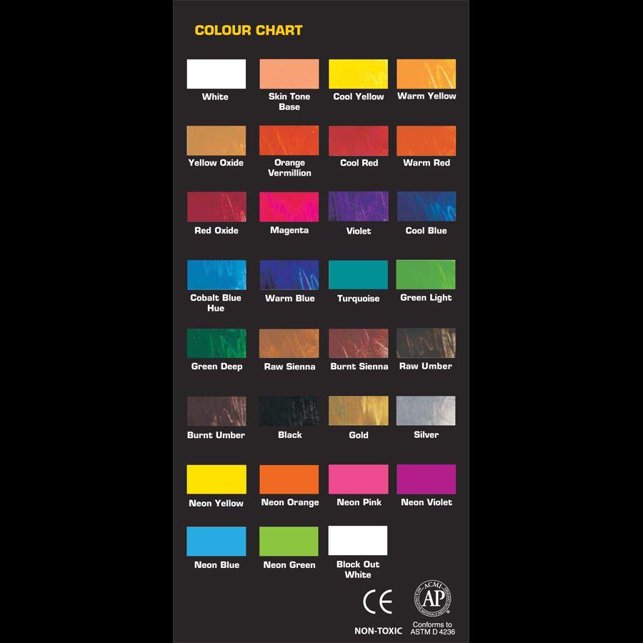Chromacryl Color Color Chart