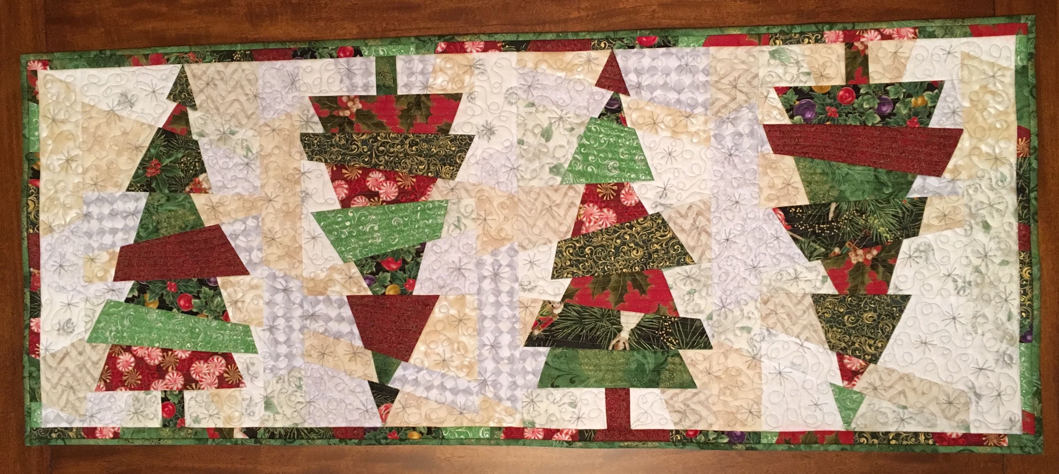 Crazy Christmas Tree Pattern By Karla Alexander Pieced And Sit Down Machine Quilted By Wendy John Christmas Tree Quilt Modern Christmas Quilt Christmas Quilts