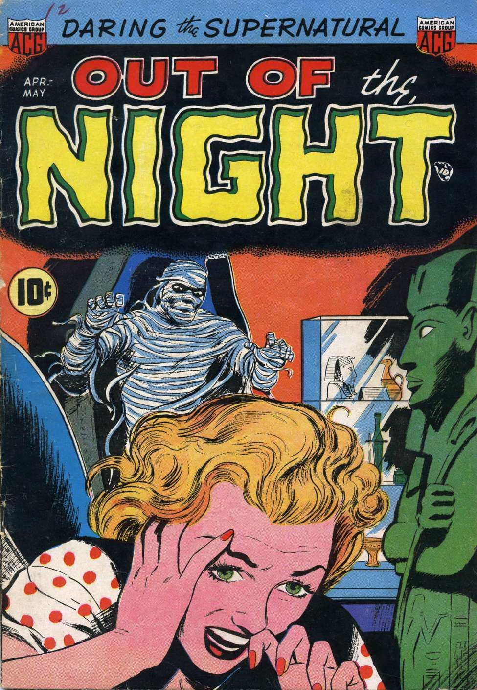 Comic book cover for out of the night 2 golden age