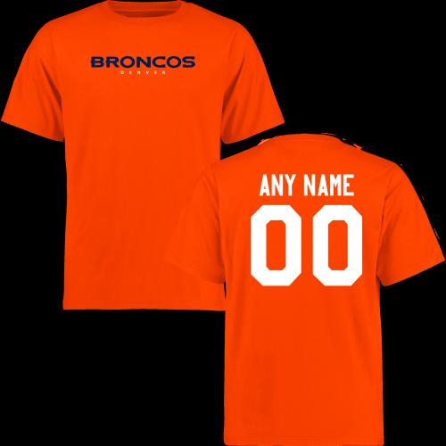 621f96e5f Men Denver Broncos Design-Your-Own Short Sleeve Custom NFL T-Shirtcheap nfl