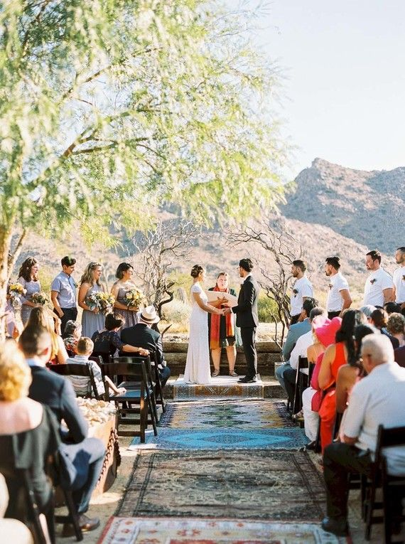 Eclectic Joshua Tree Wedding At The Sacred Sands Inn Rugs By