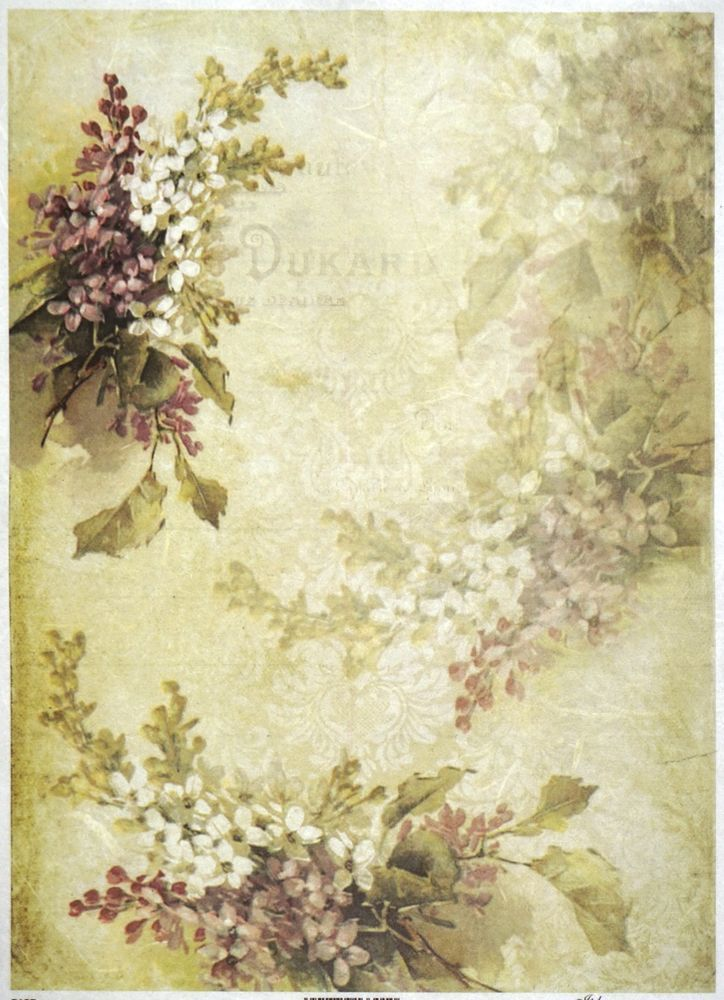 Rice Paper for Decoupage Decopatch Scrapbook Craft Sheet A//3 Taupe Leaves