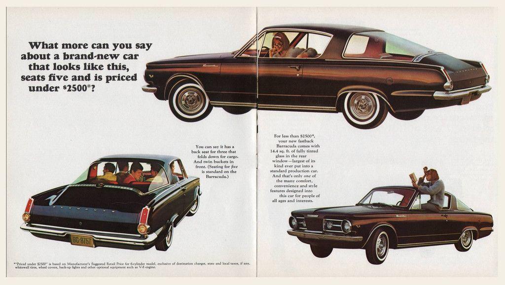 """1966 Plymouth Barracuda Only One Barracuda Original Print Ad-8.5 x 11/"""""""