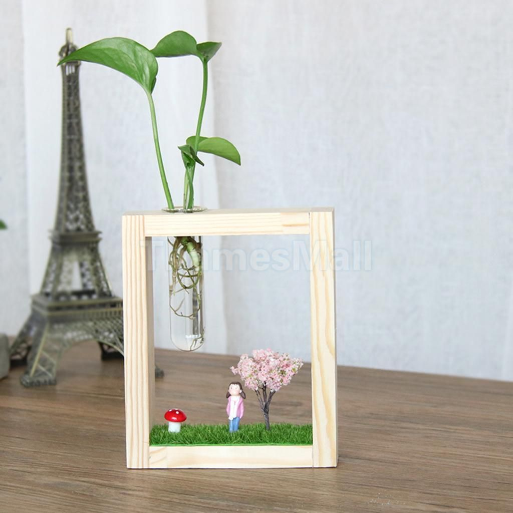 Creative Hanging Test Tube Glass Vase Simple Hydroponic Flower Home Decoration
