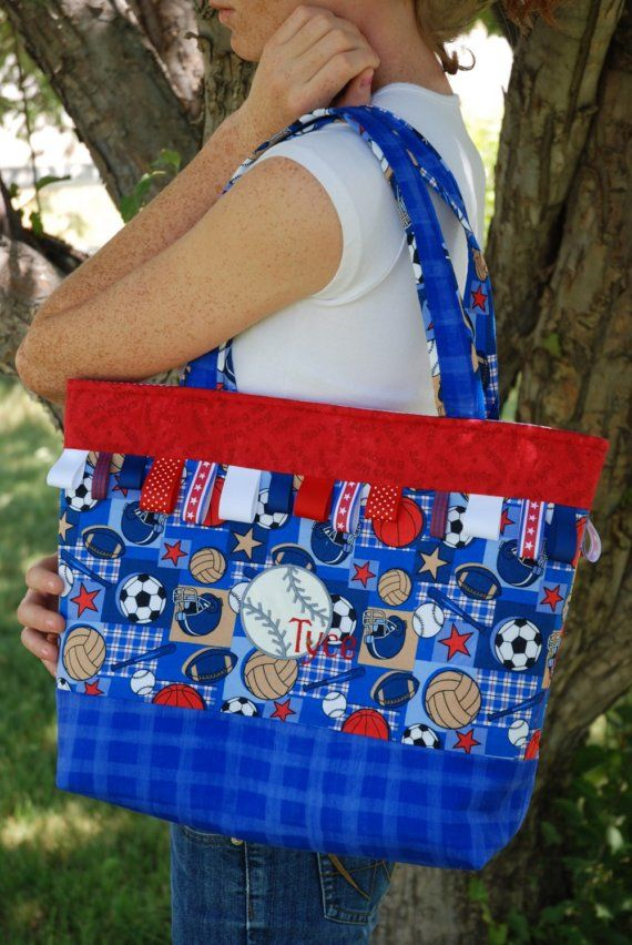 Cute custom diaper bags baby items for all those babies items similar to sports theme tote diaper bag on etsy negle Gallery