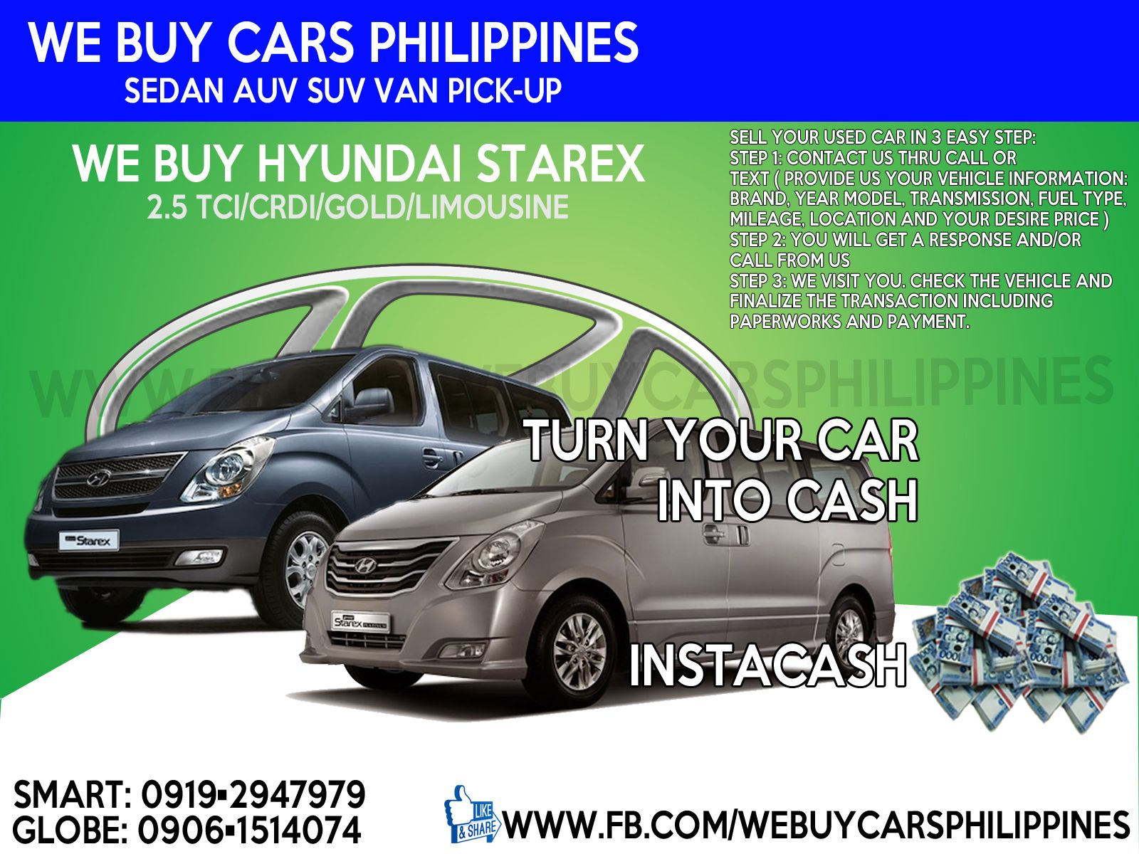WE BUY USED HYUNDAI STAREX PHILIPPINES NEW GRAND STAREX 2.5L TCI GL ...