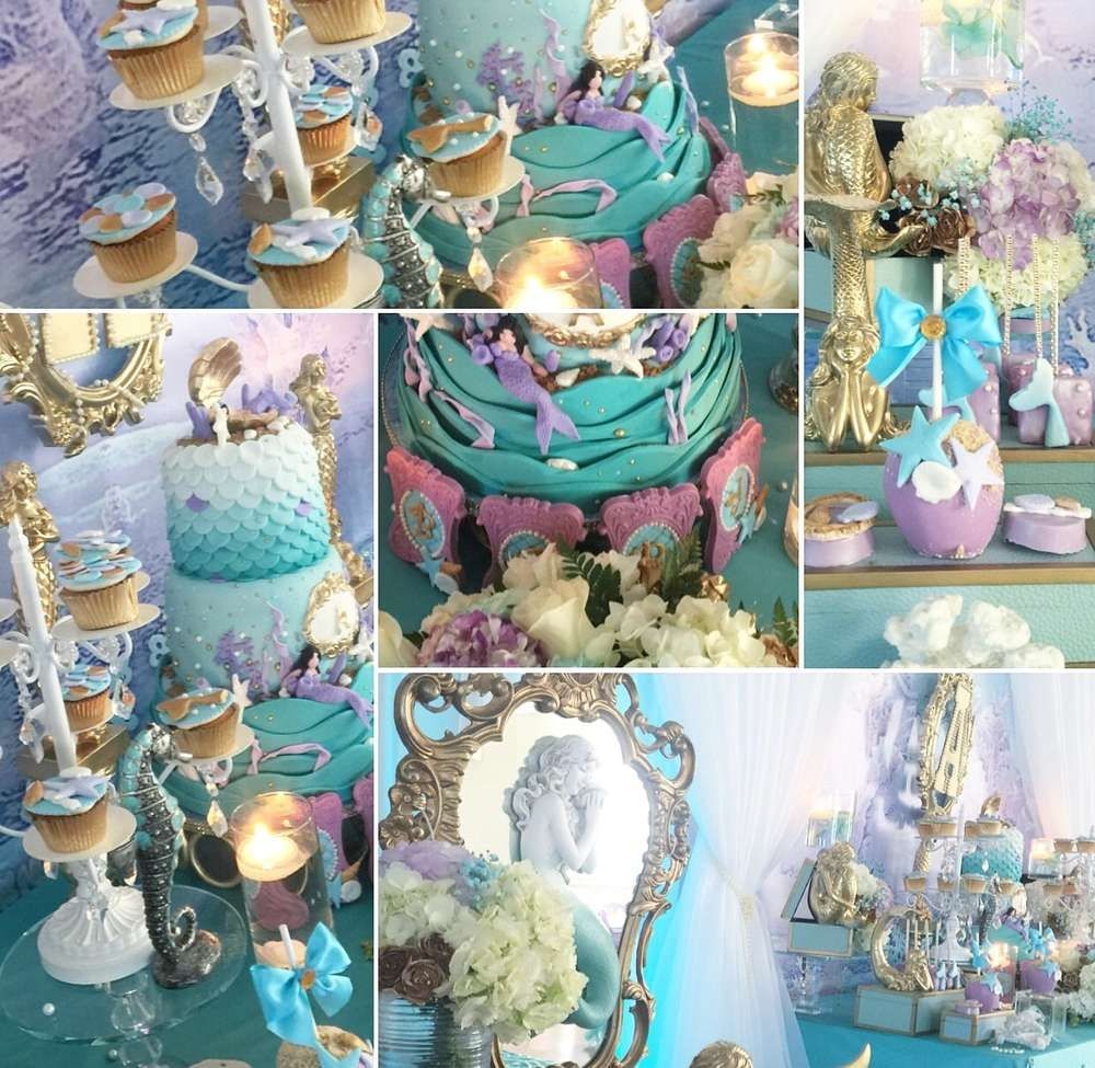 mermaids baby shower party ideas in 2019 | under the sea party ideas