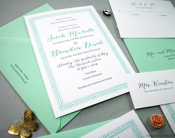 modern mint grey and coral wedding Mint Green Dark Gray Gastby