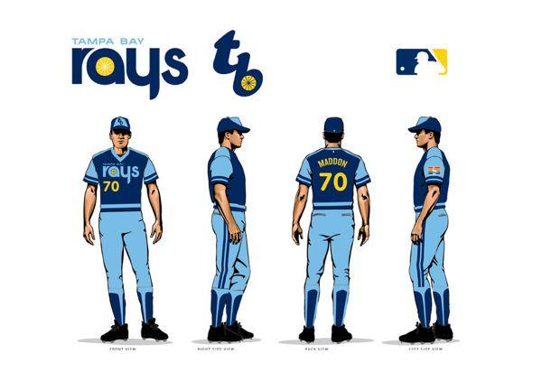 Tampa Bay Rays Retro Uniform On Behance Tampa Bay Rays Tampa Bay Retro