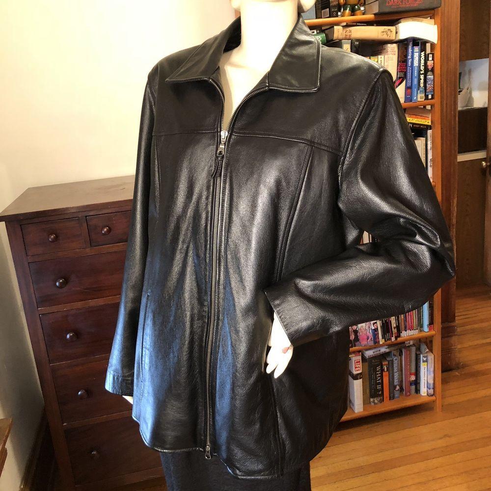 Wilson Wilson's Leather Black Zip Front Jacket Thinsulate