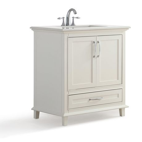 Glacier Bay Woodbrook 30 1 2 In W Bath Vanity In White Washed Oak