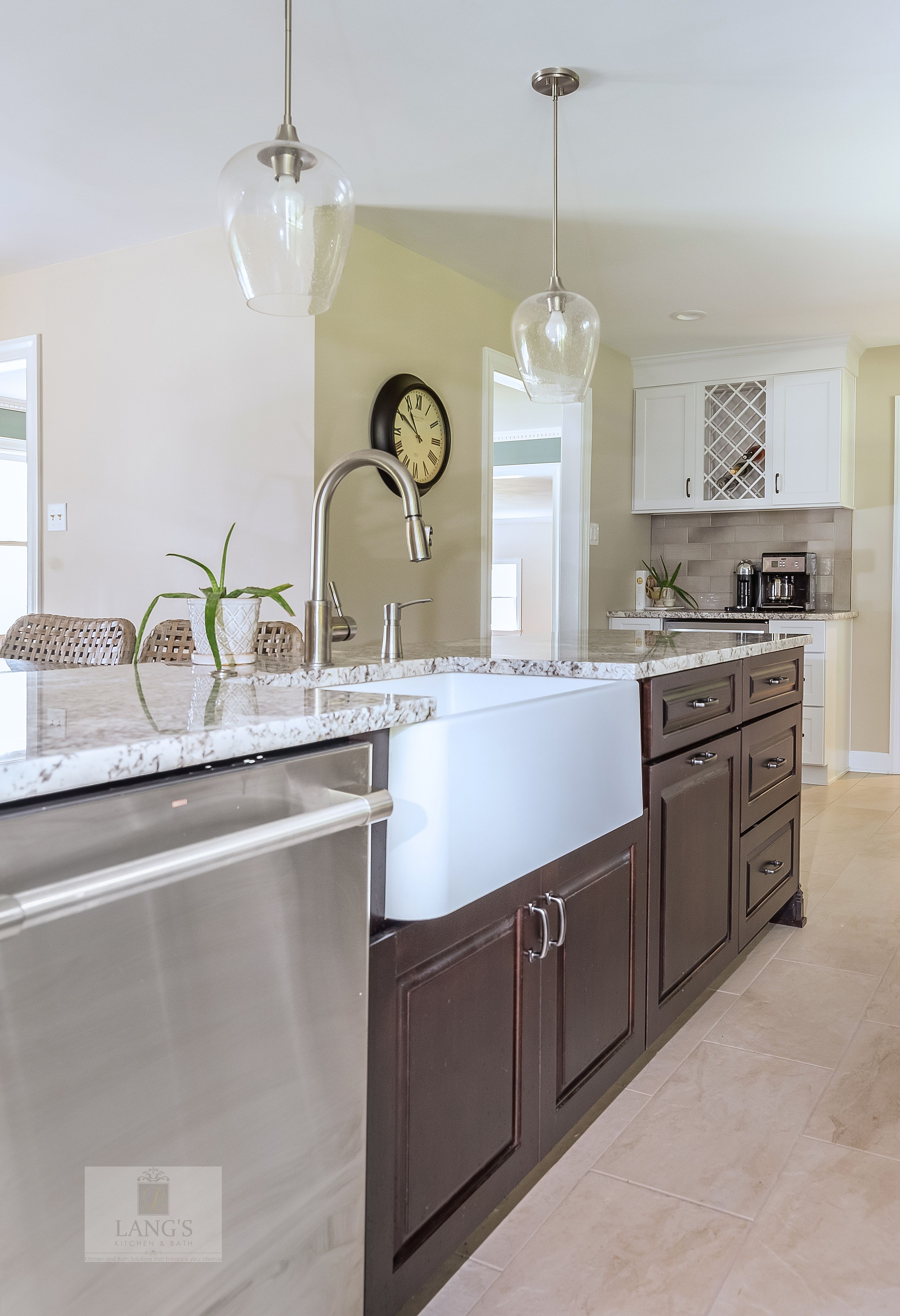 At The Heart Of This New Hope Pa Kitchen Design Is A Large T Shaped Island With Koch Cabinetry In A D Eclectic Kitchen Design Eclectic Kitchen Kitchen Design