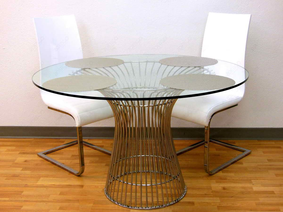 60 Inch Round Pedestal Dining Table With Round Glass Table Design