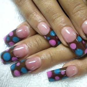 Mixed color dots