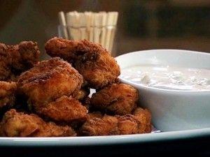 Spicy Fried Chicken Bites with Derby Dip