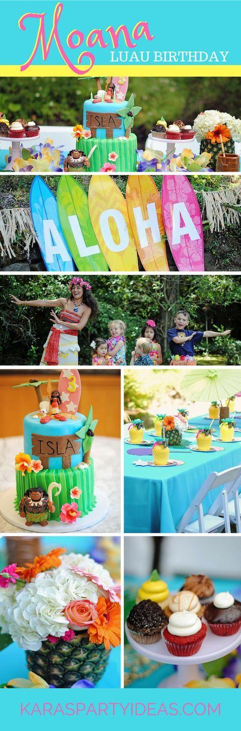 Moana Hawaiian Luau Birthday Party Geburtstagsfeier