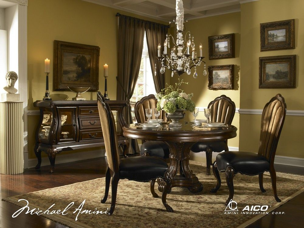 round formal dining room sets for 8   Palace Gate Round Dining Room Set in 2019   dining   Round ...