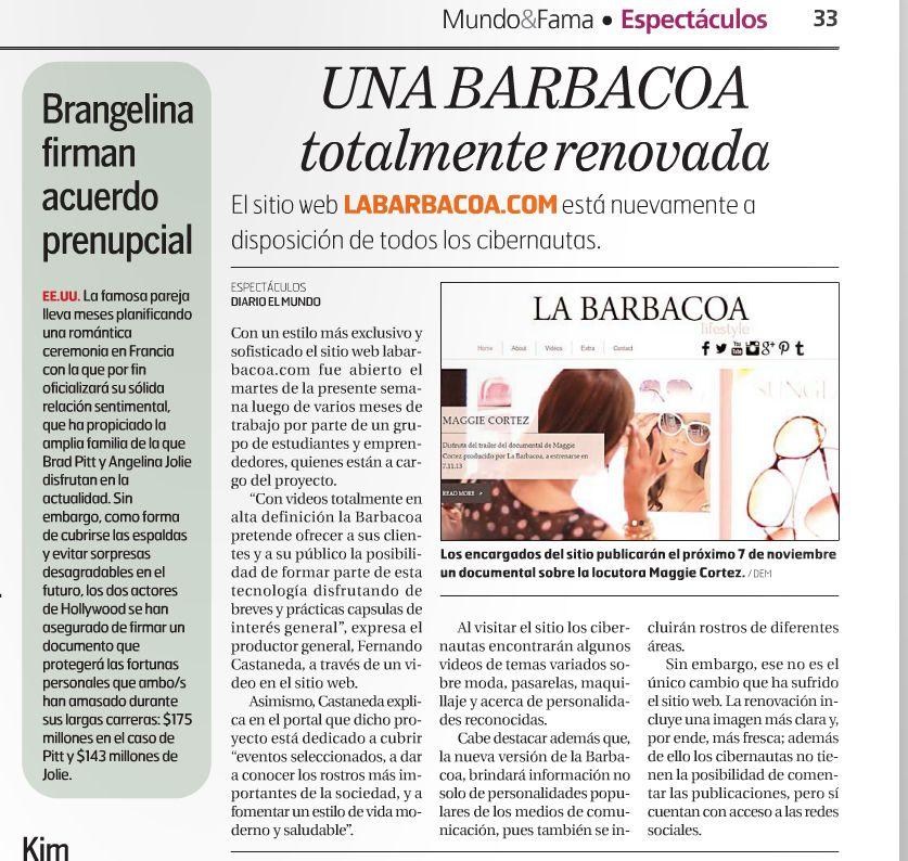 Diario El Mundo, 18 de octubre de 2013.